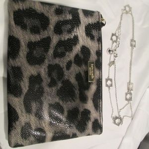 Kate Spade leopard pouch wallet bag only
